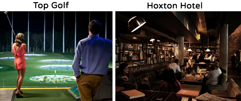 Top Golf and Hoxton Hotel