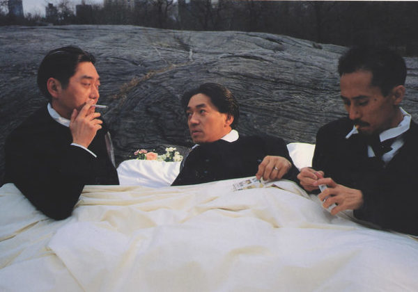 Yellow Magic Orchestra Chilling in Bed on a River