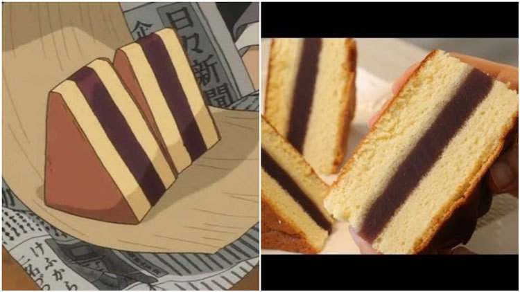 food in anime castella