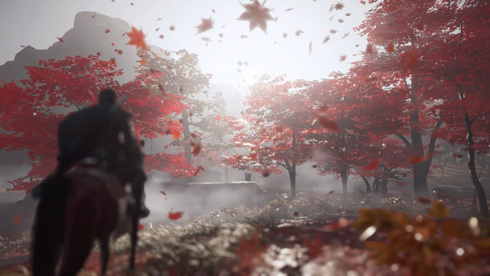 ghost of tsushima maple leaves
