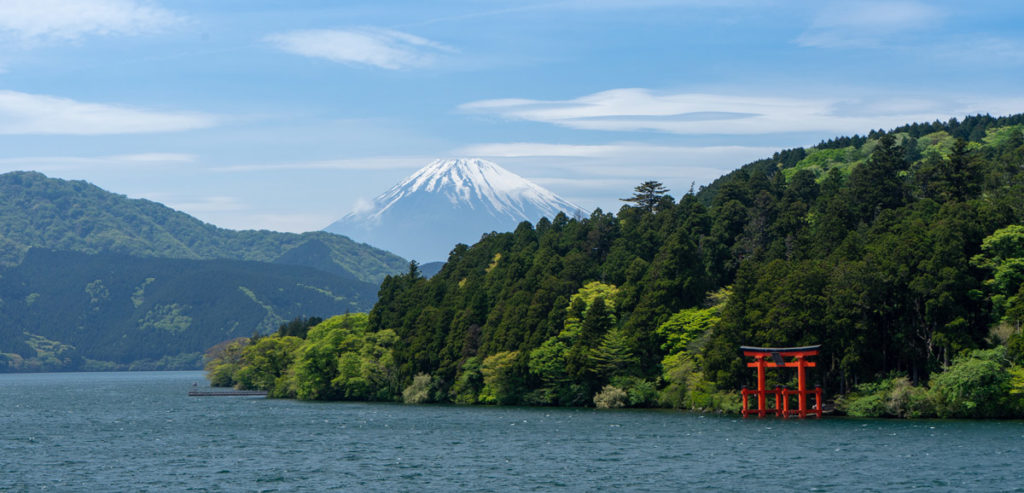 Mount Fuji and her surrounding landscape
