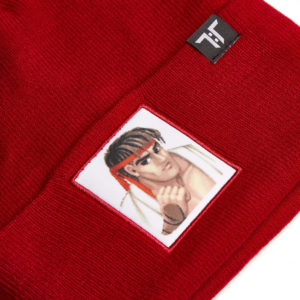 Street Fighter 2 Ryu Beanie closeup