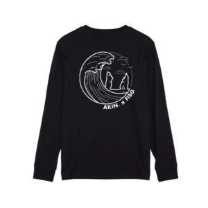 the great wave inspired long sleeve t-shirt